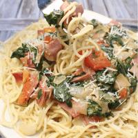 Bacon, Basil, Tomato Pasta