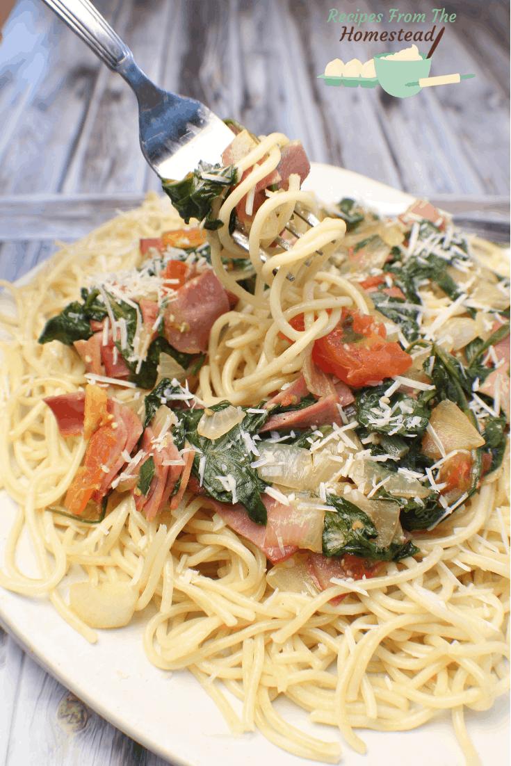 bacon basil tomato pasta