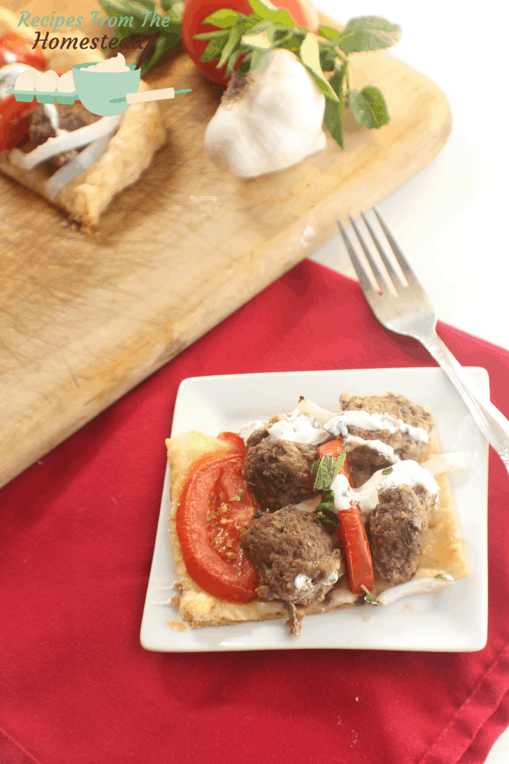 lamb galette puff pastry