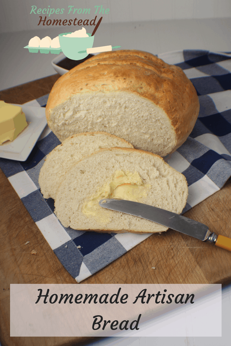 There's nothing better than sinking your teeth into a warm slice of bread, smeared with real butter, except maybe this homemade artisan bread.