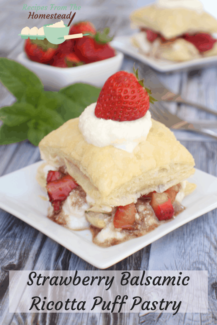 Strawberry Balsamic Ricotta Puff Pastry