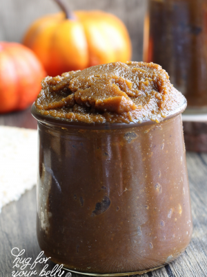 pumpkin butter in glass jar