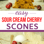 ingredients and baked scones