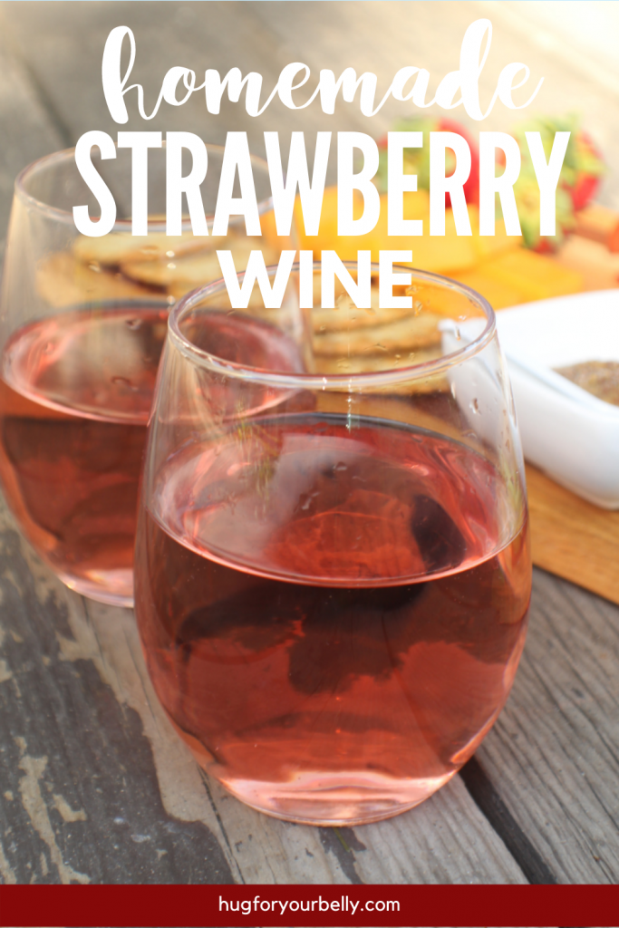 strawberry wine in stemless glasses