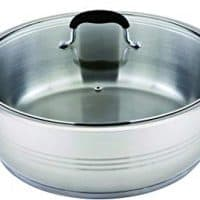 All American Collection 16 Quart Stainless Steel Low Pot with Thick Capsule, Silicone Handles and Knobs