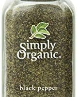 Simply Organic Pepper, Black Medium Grind Certified Organic, 2.31 Ounce Container