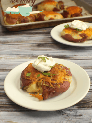 cheesy smashed potatoes
