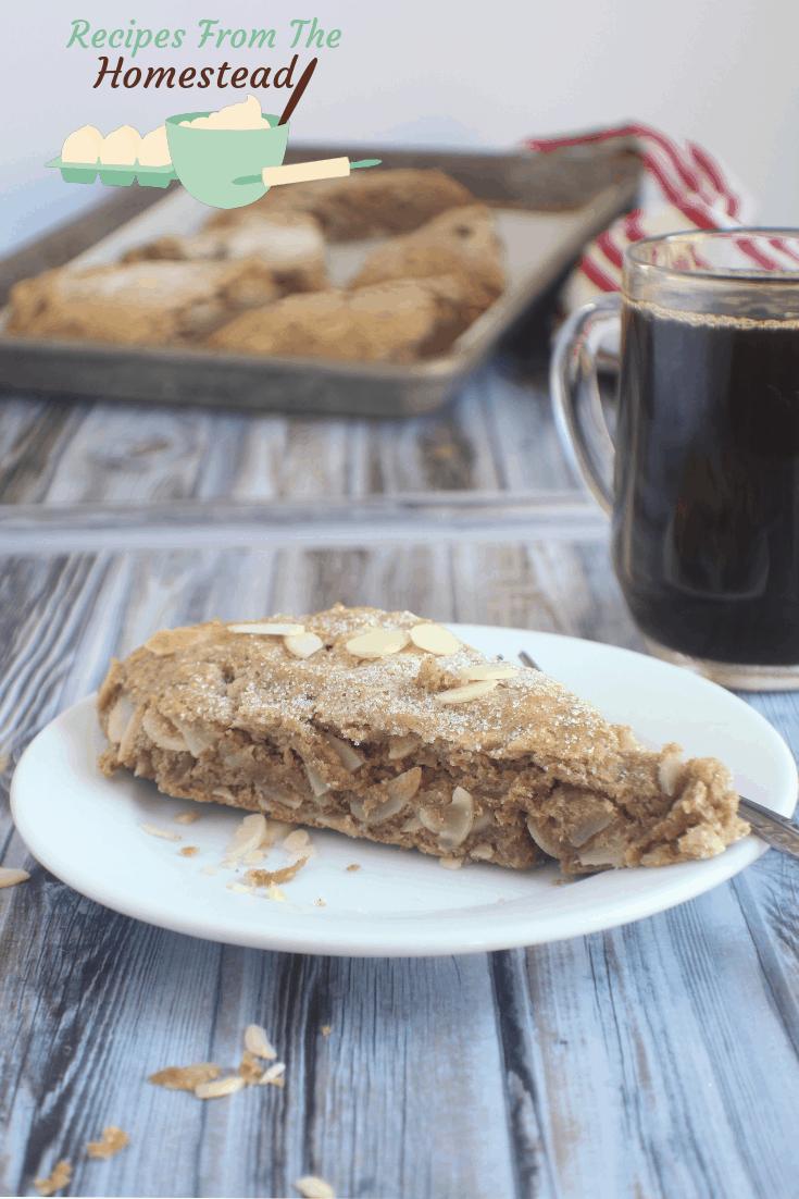 Almond Coffee Scones