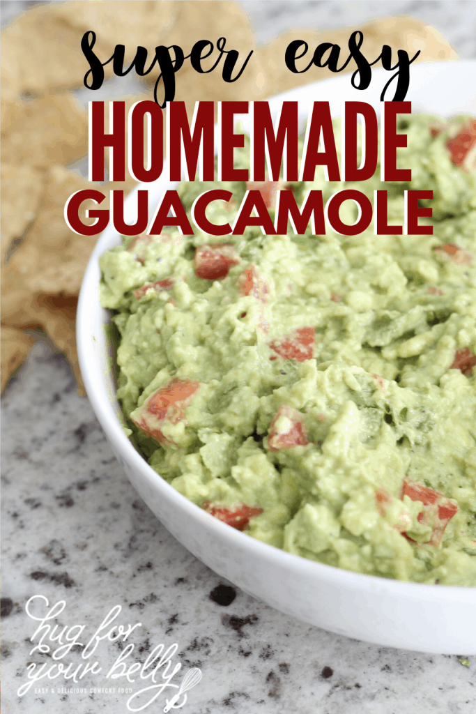 homemade guacamole in white bowl