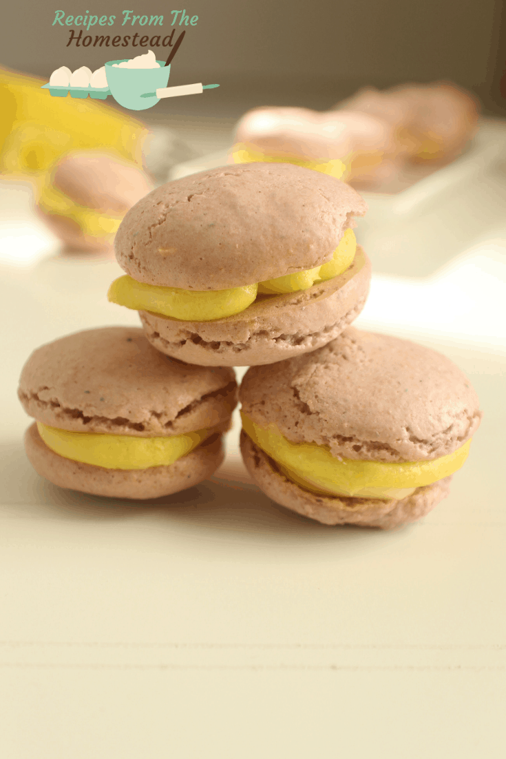lavender lemon French macaroons