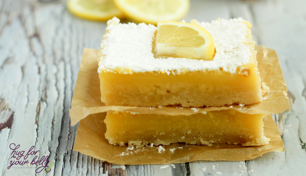 2 lemon bars stacked