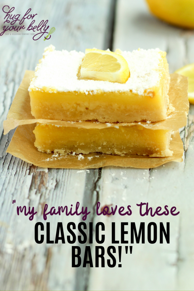 lemon bars on wooden background