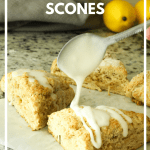 drizzle going on lemon scone