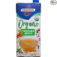Swanson Organic Broth, Vegetable, 32 oz. Resealable Carton (Pack of 12)