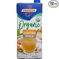 Swanson Organic Free-Range Chicken Stock, 32 oz. Cartons (Pack of 12)