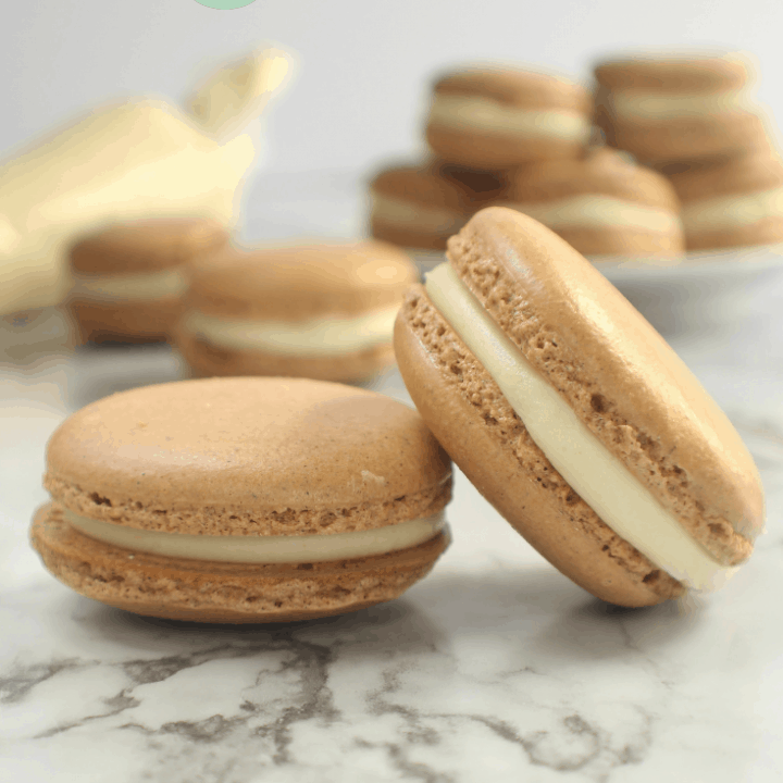 cardamom ginger French macaroons