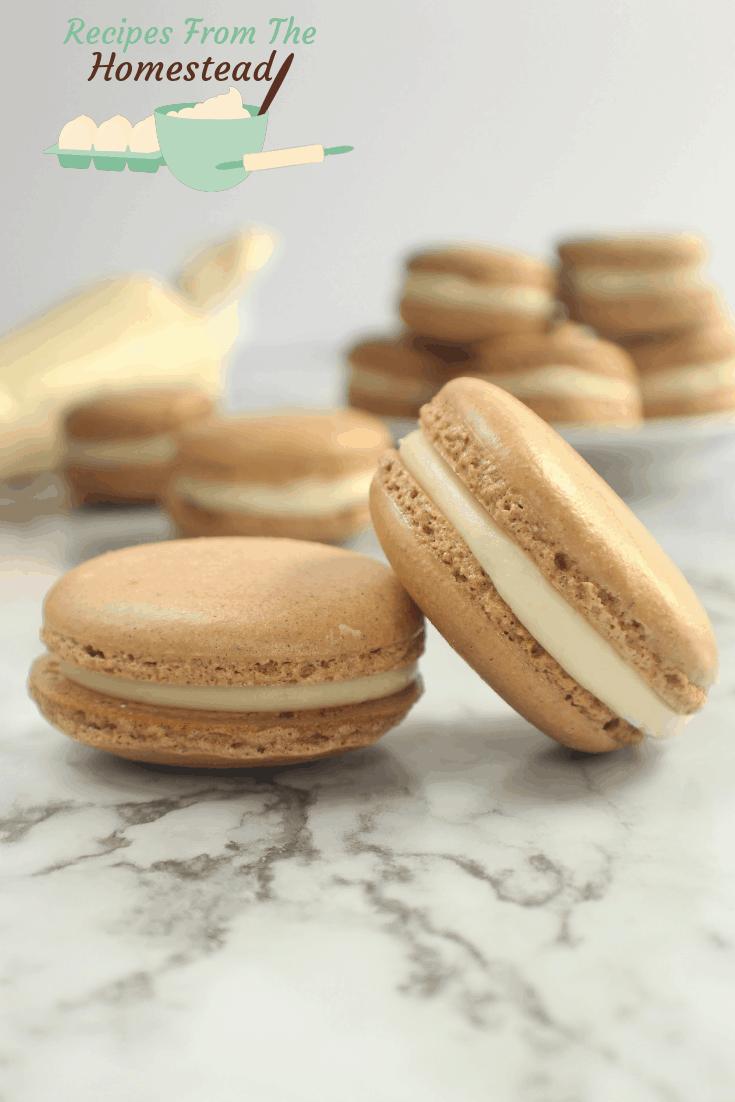 cardamom ginger French macaroons