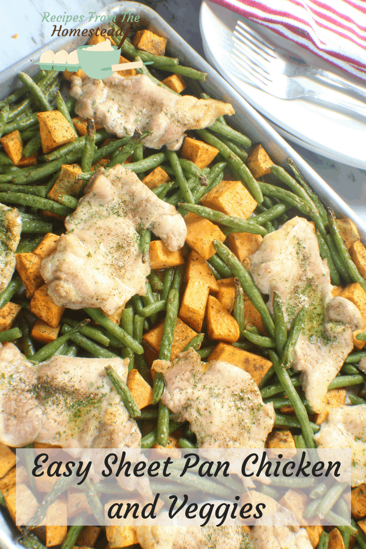 easy sheet pan chicken dinner
