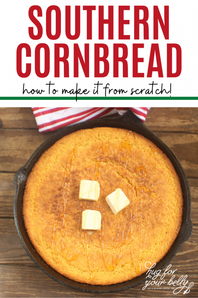 cornbread in cast iron pan