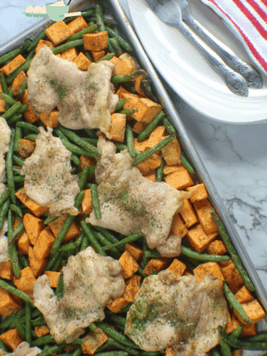 sheet pan chicken dinner