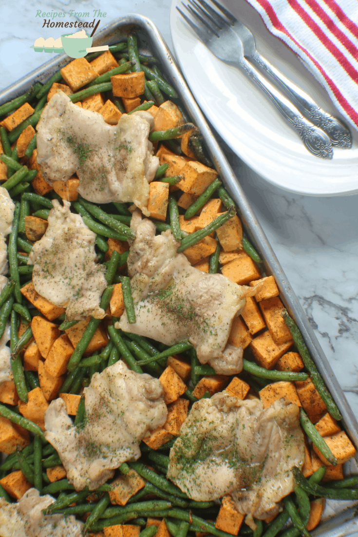 Easy Sheet Pan Chicken (Paleo, Whole 30)