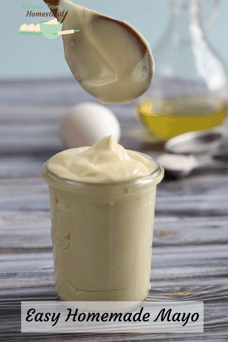 homemade mayo in a jar