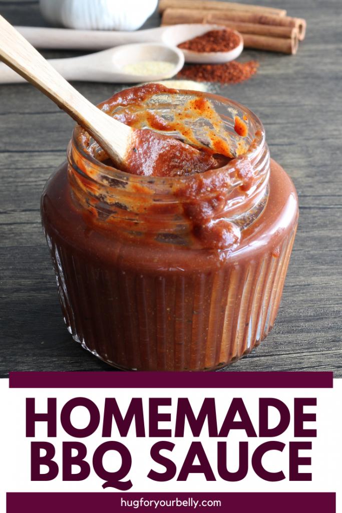 homemade bbq sauce in jar