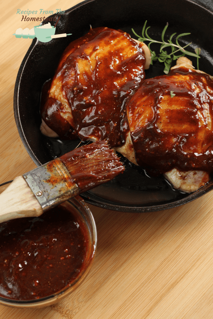 easy barbeque sauce over chicken thighs