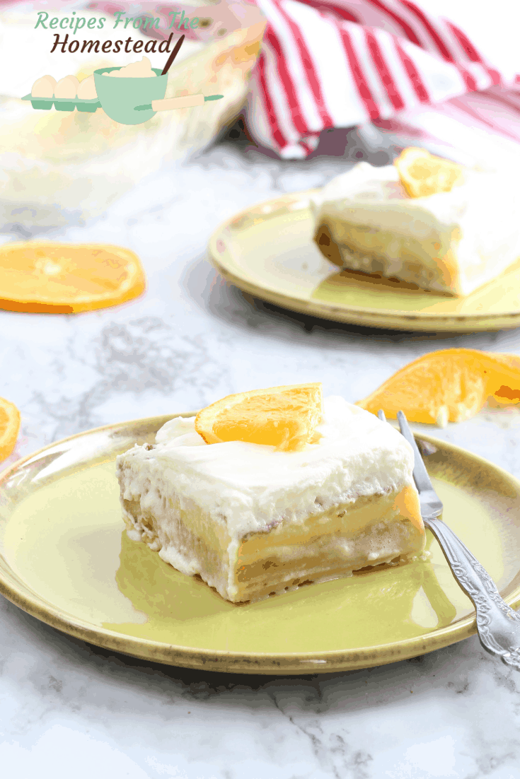 orange dreamsicle bars