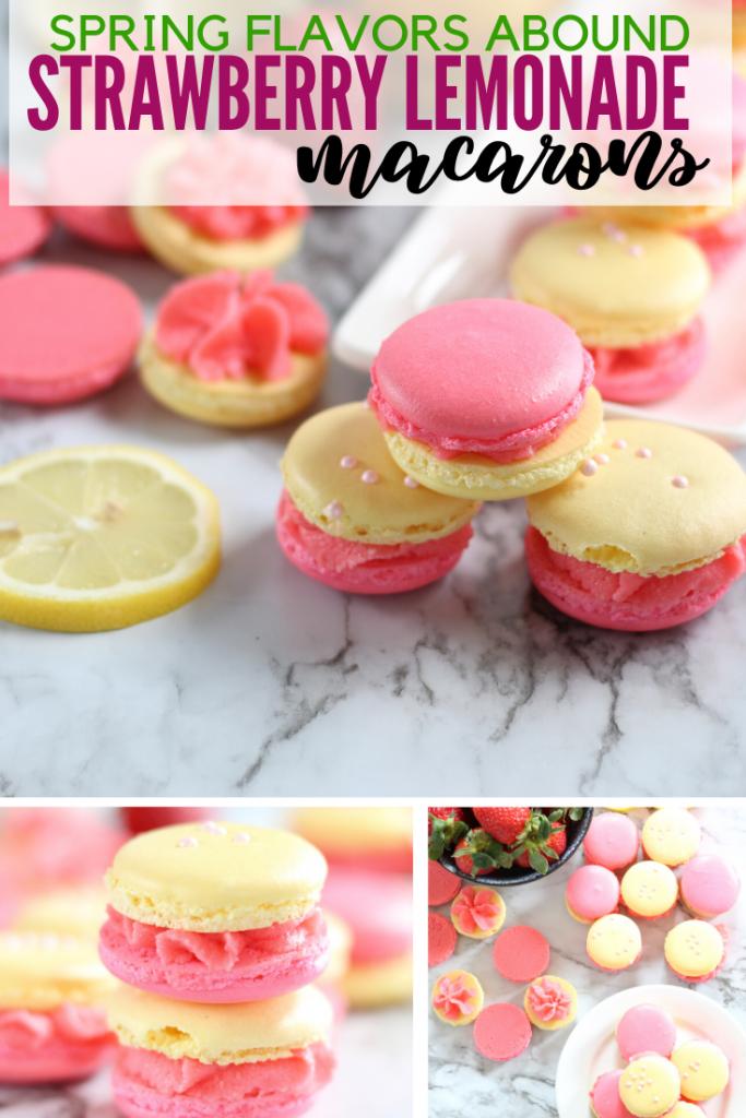 pink and yellow macarons
