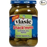 Vlasic Snack'mms Pickles, Kosher Dill Minis, 16 Ounce (Pack of 6)