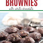 brownie bites on cooling rack