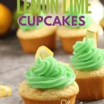 lemon cupcakes on marble background