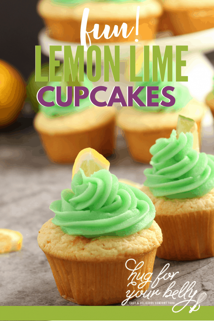 lemon cupcakes on marble background