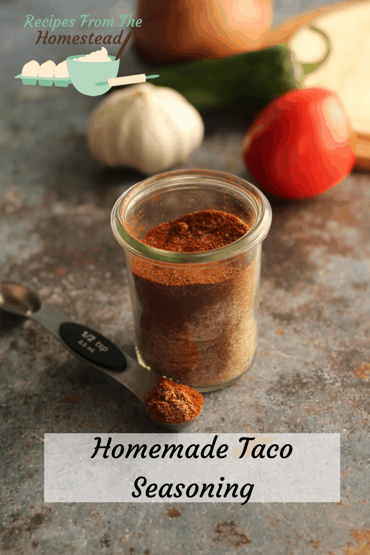 taco seasoning blended in jar