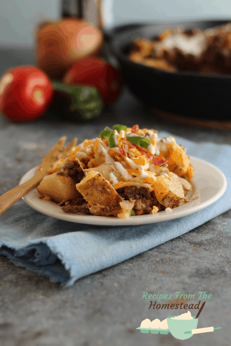 Loaded Potato Taco Bake