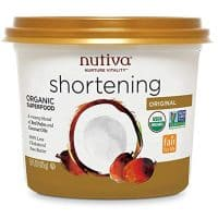 Nutiva USDA Certified Organic, non-GMO Fair for Life Red Palm and Coconut Shortening, 15-ounce