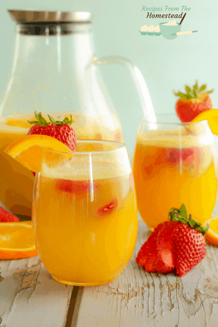 strawberry orange mock mimosas