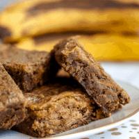 Peanut Butter Banana Brownies