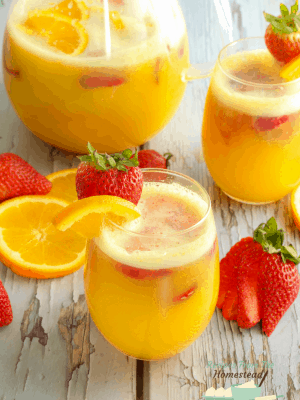 strawberry orange mimosa mocktails