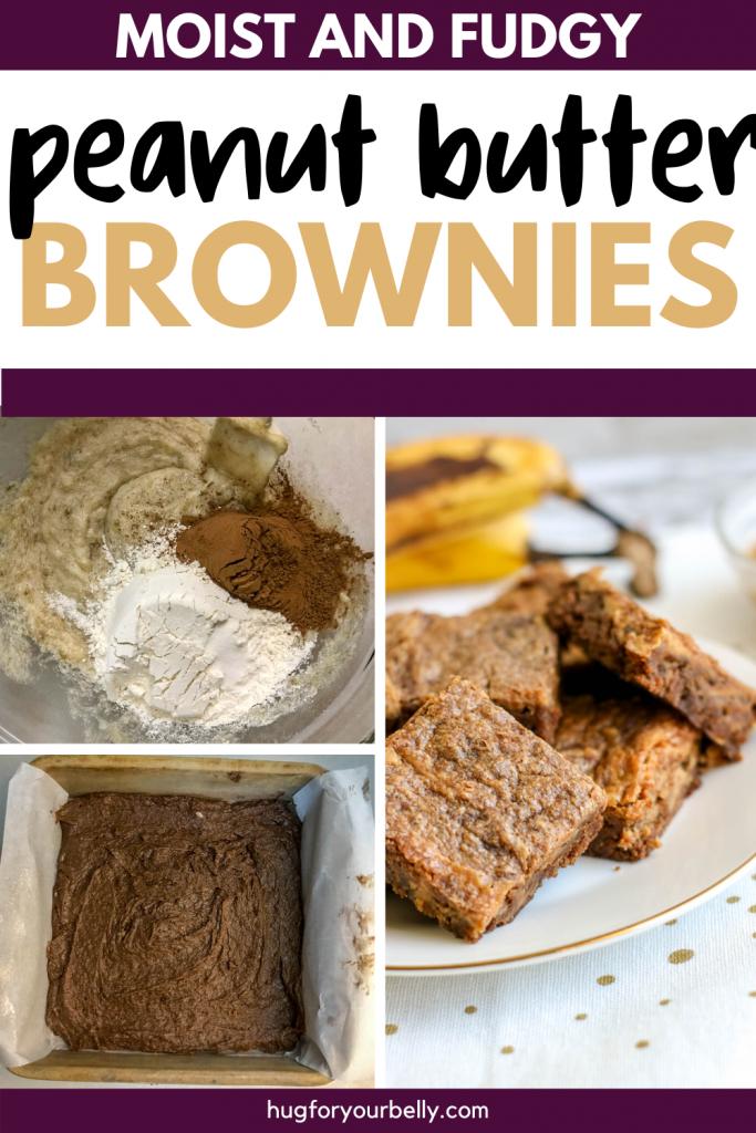 making peanut butter banana brownies