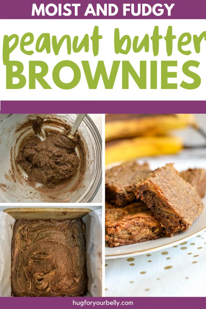 making peanut butter brownies