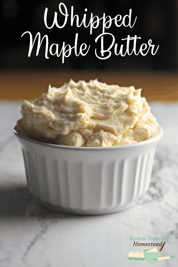 whipped maple butter in white bowl