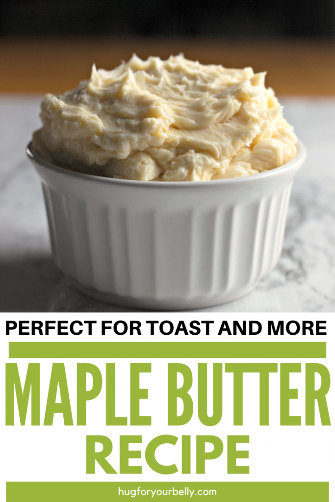 whipped maple butter in white dish