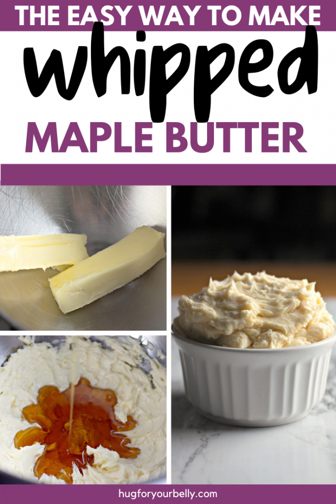 making whipped maple butter