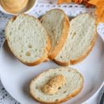 pumpkin butter on white bread