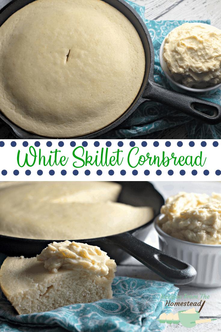 white skillet cornbread