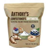Anthony's Confectioner's Erythritol, 2lb, Non GMO, Natural Sweetener, Keto & Paleo Friendly