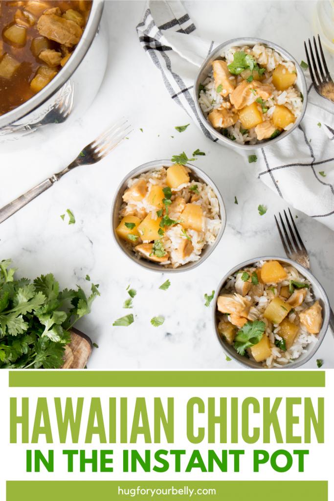 top view of hawaiian chicken