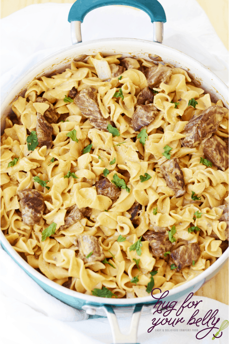 finished beef stroganoff